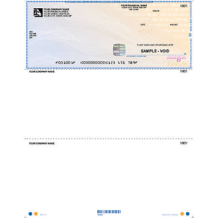 "Custom High Security Laser Multipurpose Voucher Checks For Sage Peachtree®, 8 1/2"" x 11"", 1 Part, Box Of 250"