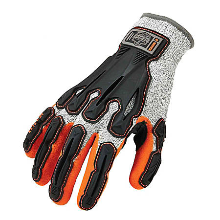 Ergodyne ProFlex 922CR Cut-Resistant Nitrile-Dipped DIR Gloves, X-Large, Gray