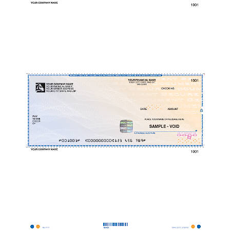 """DacEasy™ High-Security Laser Multipurpose Checks - Versions 4.3 And Higher, 1-Part, 8 1/2"""" x 11"""", Box Of 250"""