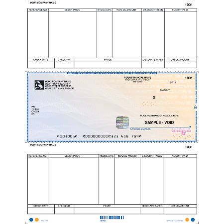 """Peachtree® Windows® 3.5–7.0 Compatible High-Security Laser Multipurpose Checks, Accounts Payable, 1-Part, 8 1/2"""" x 11"""", Box Of 250"""