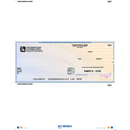 """Custom Laser Multipurpose Voucher Checks, High-Security For Sage Peachtree®, 8 1/2"""" x 11"""", 1 Part, Box Of 250"""