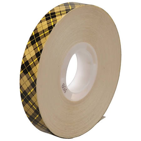 "Scotch® 908 Adhesive Transfer Tape, 1"" Core, 0.5"" x 36 Yd., Clear, Case Of 72"