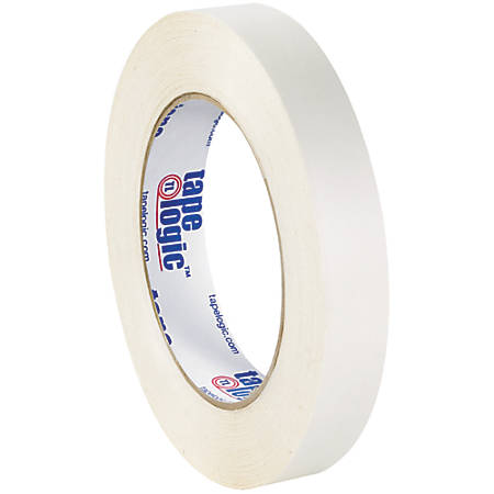 """Tape Logic® Double-Sided Film Tape, 3"""" Core, 0.75"""" x 180', White, Pack Of 2"""