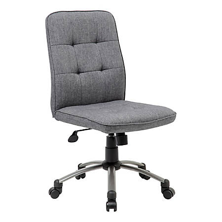 Boss Modern Fabric Mid-Back Task Chair, Slate Gray/Pewter
