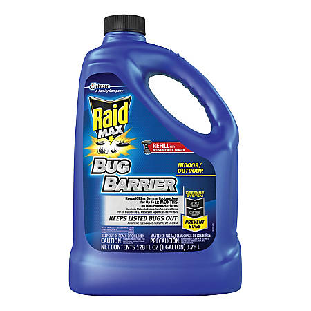 Raid Max Bug Barrier, Refill, 128 Oz, Pack Of 4 Bottles