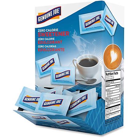 Genuine Joe Aspartame Zero Calorie Sweetener Packs - 0 lb (0 oz) - Artificial Sweetener - 400/Box