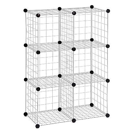 Honey-Can-Do SHF-01794 6-Pack Modular Mesh Storage Cube, Silver