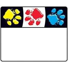 Trend Paw Print Name Tags 250