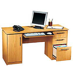 RS To Go Dawson 60 Computer Desk 30 H X 60 W X 24 D Sky Alder By Office  Depot U0026 OfficeMax