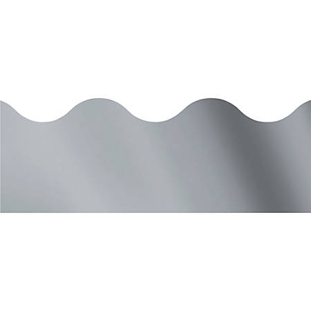 "Trend solid-colored Terrific Trimmers - (Scalloped) Shape - Reusable, Precut - 2.25"" Width x 390"" Length - Silver - 12 / Pack"