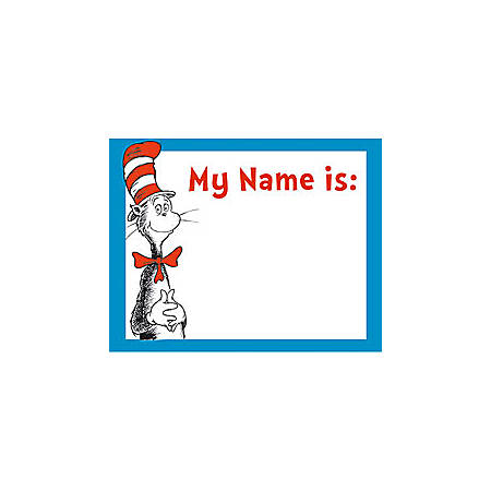 Cat In The Hat Name Tags, Pack Of 40