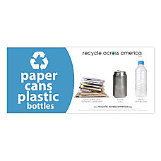 Recycle Across America Paper Cans And