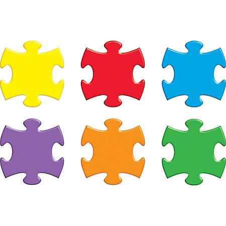 Trend® Classic Accents Variety Pack, Puzzle Pieces, Pack Of 36