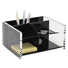 Realspace Acrylic Desk Organizer BlackClear