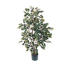 Nearly Natural 4H Silk Ficus Tree