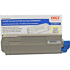 OKI 43865717 Yellow Toner Cartridge