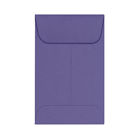 "LUX Coin Envelopes, #1, 2 1/4"" x 3 1/2"", Wisteria, Pack Of 1,000"