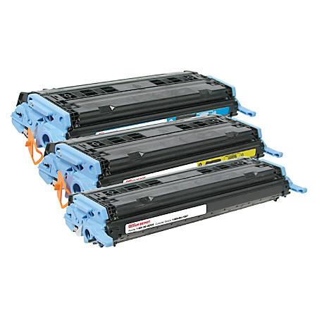 Office Depot® Brand OD2600CMY (HP 124A / Q6001A / Q6002A / Q6003A) Remanufactured Multicolor Toner Cartridges