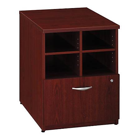 "Bush Business Furniture Components Storage Cabinet, 24""W, Mahogany/Mahogany, Standard Delivery"