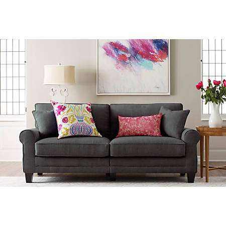 "Serta Copenhagen Deep-Seating Sofa, 73"", Gray/Espresso"