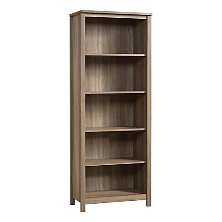 Sauder® County Line Library 5-Shelf Bookcase, Salt Oak