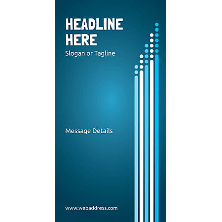Custom Vertical Display Banner, Dots And Bars