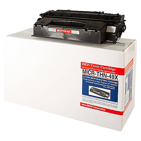 MicroMICR THN-49X (HP Q5949X) Black MICR Toner Cartridge