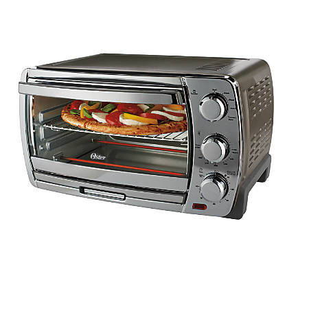oster countertop convection toaster oven silver office depot. Black Bedroom Furniture Sets. Home Design Ideas