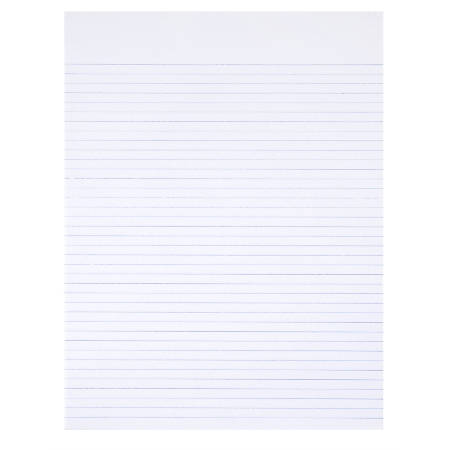 """SKILCRAFT® 30% Recycled Perforated Writing Pads, 8 1/2"""" x 11"""", White, Narrow Ruled, Pack Of 12 (AbilityOne 7530-01-516-7581)"""
