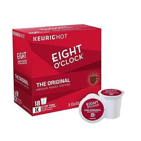 Eight O'Clock Original Coffee K-Cup® Pods, 0.4 Oz, Box Of 18 Pods