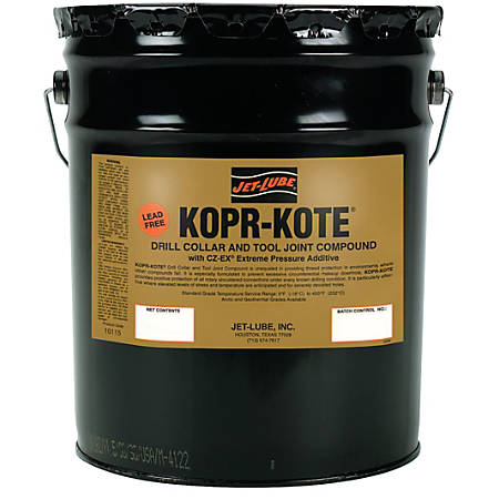 Jet-Lube Kopr-Kote® Oilfield Drill Collar And Tool Joint Compound, 5 Gallons
