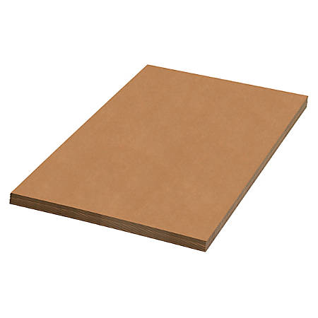 "Office Depot Brand 100% Recycled Material Kraft Corrugated Sheets, 24"" x 72"", Pack Of 20"