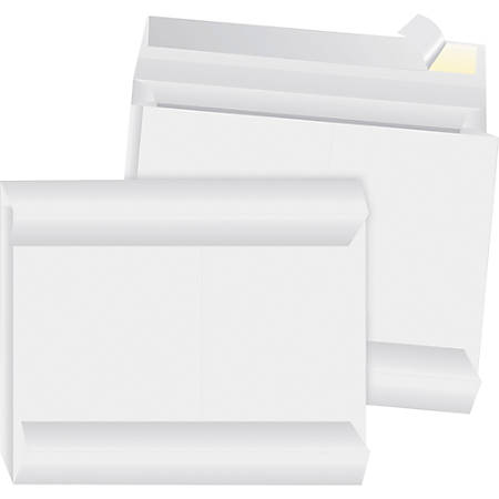 "Business Source Tyvek Side-openning Envelopes - Expansion - 12"" Width x 16"" Length - 2"" Gusset - Peel & Seal - Tyvek - 100 / Carton - White"