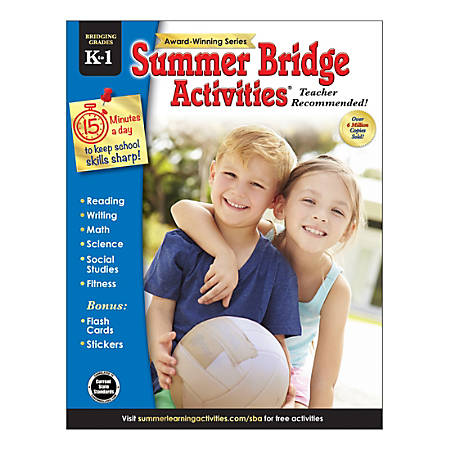 Carson-Dellosa Summer Bridge Activities® Workbooks, Kindergarten to Grade 1, Pack Of 30 Workbooks
