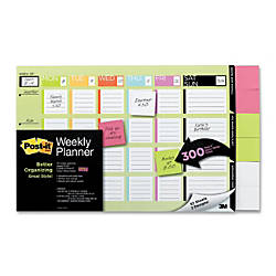 Post it Planning Calendar With Super