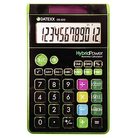 Jumbo Style Calculator, Assorted Colors (No Color Choice)