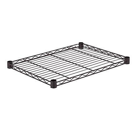 "Honey-Can-Do Powder-Coat Steel Shelf, 250-Lb Capacity, 1""H x 18""W x 24""D, Black"