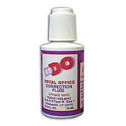 Solvent Based Correction Fluid 6 Oz