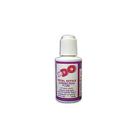 Solvent-Based Correction Fluid, .6 Oz., White (AbilityOne 7510-01-333-6242)