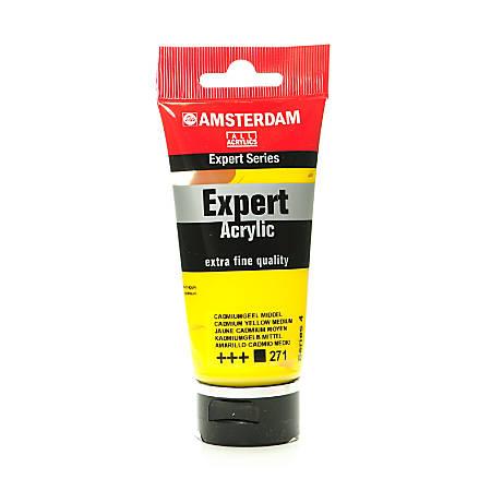 Amsterdam Expert Acrylic Paint Tubes, 75 mL, Cadmium Yellow Medium, Pack Of 2