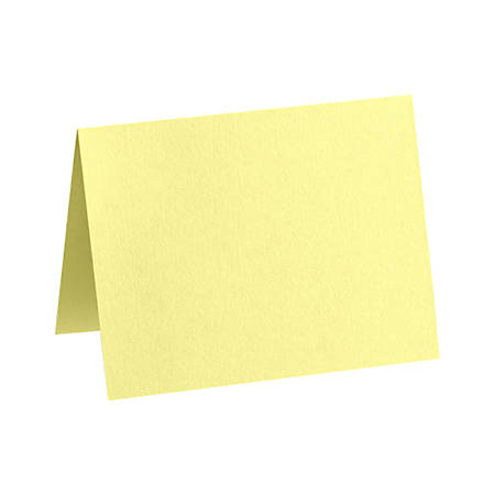 "LUX Folded Cards, A6, 4 5/8"" x 6 1/4"", Lemonade Yellow, Pack Of 1,000"
