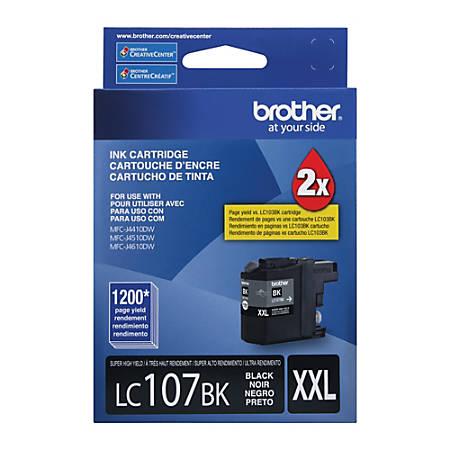 Brother® LC107BK, High-Yield Black Ink Cartridge