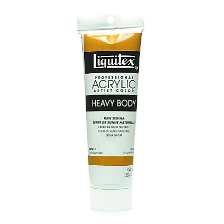 Liquitex Heavy Body Professional Artist Acrylic Colors, 4.65 Oz, Raw Sienna, Pack Of 2