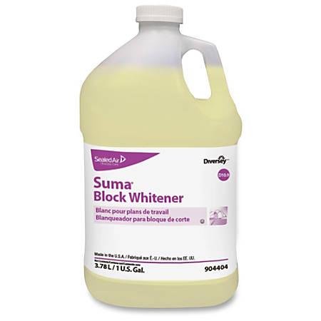 Diversey Suma Block Whitener - Ready-To-Use Liquid - 1 gal (128 fl oz) - Chlorine Scent - 1 Each - Pale Yellow