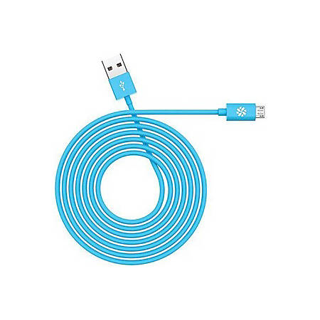 Kanex Micro USB Charge and Sync Cable - 3.94 ft USB Data Transfer Cable for Smartphone, Tablet - First End: 1 x Type A Male USB - Second End: 1 x Type B Male Micro USB - Blue