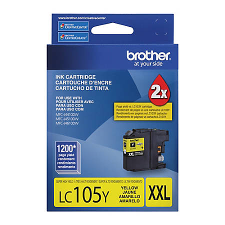 Brother® LC105Y High-Yield Yellow Ink Cartridge