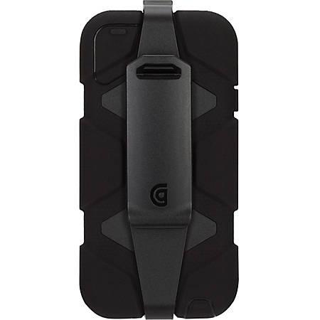 Griffin Survivor Carrying Case iPod - Black - Dirt Resistant, Sand Resistant, Vibration Resistant, Shock Absorbing, Water Resistant, Shatter Resistant, Drop Resistant, Rain Resistant, Wind Resistant, Dust Resistant - Polycarbonate, Silicone