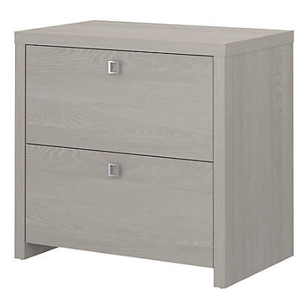 kathy ireland® Office by Bush Business Furniture Echo Lateral File Cabinet, Gray Sand, Premium Installation