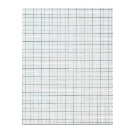 """Office Depot® Brand Quadrille Pad, 8 1/2"""" x 11"""", 4 x 4 Squares/Inch, 25 Sheets, White"""