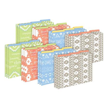 Barker Creek Tab File Folders, Letter Size, Thoughtfulness, Pack Of 24 Folders